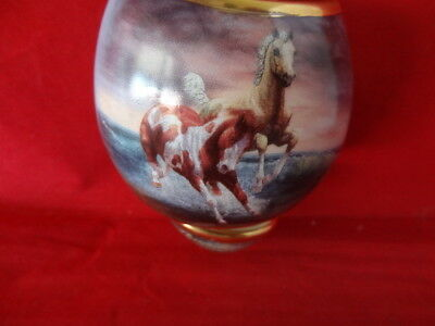 """Bradford Ornament, """"Thundering Elegance"""" Free as the Wind Collection - Horses"""