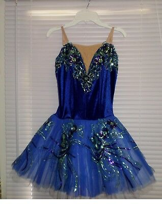Costume Gallery Ballerinas Tutu Dress Royal Blue Size SA NWOT