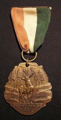 VINTAGE YELLOWWOOD TRAIL MEDAL - NASHVILLE IN - BSA BOY SCOUTS State Forest Park