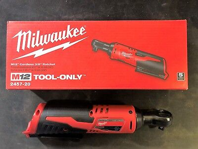 Milwaukee 2457-20 M12  12-Volt 3/8 Ratchet - Tool Only (Brand New in the Box)