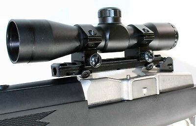 ruger model 14 ruger model 30 Ranch Scope Mount base with 4x32 hunting scope blk