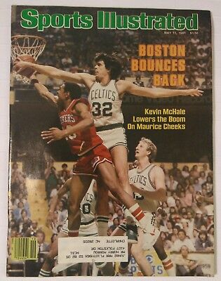 Sports Illustrated Magazine May 11, 1981 Boston Celtics Kevin McHale Sixers