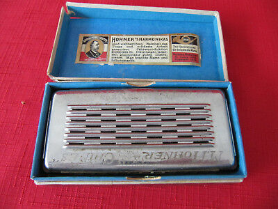 Antique Vtg HOHNER HARMONICA~Made in GERMANY~in Original Box~Very Nice Graphics!
