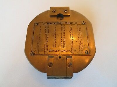 Vintage Stanley London Natural Sine Solid Brass Nautical/Maritime Compass