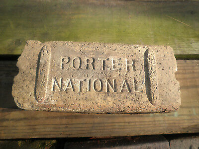 Vintage Antique Porter National Brick Street Road Paver