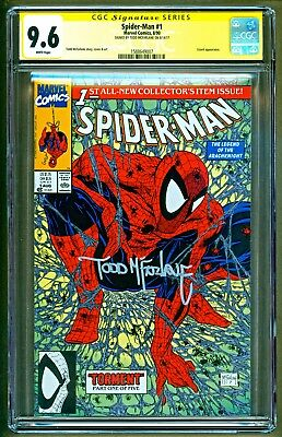 Spider-Man #1 (1990 Marvel) Lizard appearance Signed Todd Mcfarlane CGC 9.6