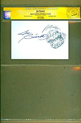 Marvel The Thing Original Art Sketch and Signed by Joe Sinnott SS CGC