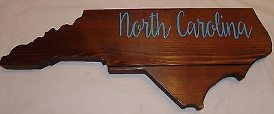 North Carolina Large Wood Plaque State Barn Board Wall Hanging Decor Reclaimed