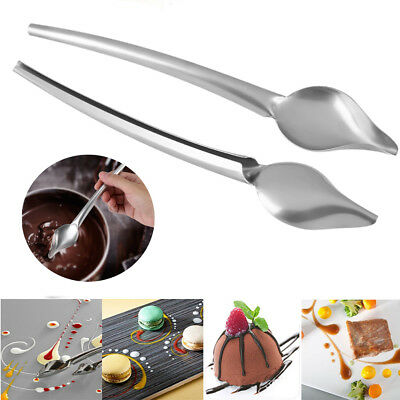 Stainless Steel Spoon Food Deco Draw Design Sauce Paint Plate Dessert Spoon ZY