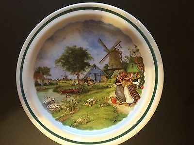 Vintage Collectable Plate - Royal Schwabap   Holland - Windmill Scene
