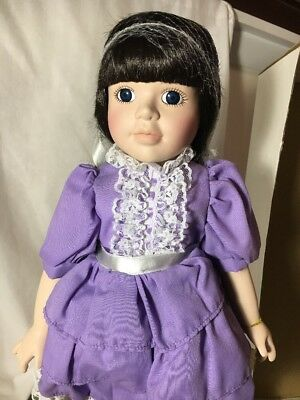 Brenda Thomas Once Upon A Rhyme Porcelain Doll Little Miss Muffet