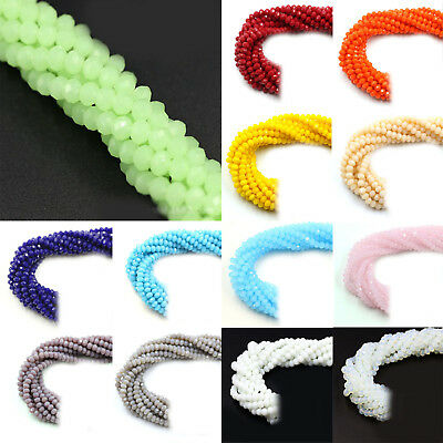 Rondelle Faceted Crystal Glass Loose Spacer Beads Wholesale 4mm/6mm/8mm/10mm DIY