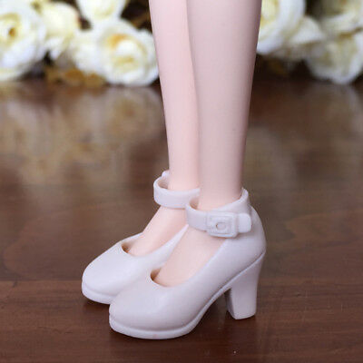 White Shoes For Blythe Doll 1/6 High Heel Shoes For Licca Doll Mini Shoes Toy