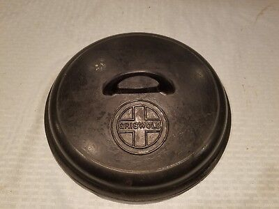 Griswold Erie Cast Iron Vintage Antique no.8 Cover for Dutch Oven Pot PN 1288 A