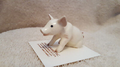 Hagen Renaker Pig Baby Sitting Figurine Miniature Gift New Free Shipping 03337