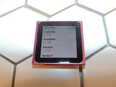 Apple iPod Nano 6th Generation 8GB Pink A1366
