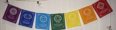 Chakra Tibetan prayer flag Buddhist Nepal spiritual peace Buddha Yoga 7 flags
