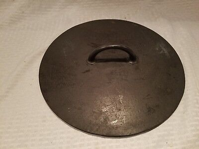 Griswold Erie Cast Iron Vintage Antique no. 10 Dutch Oven cover Lid PN 839