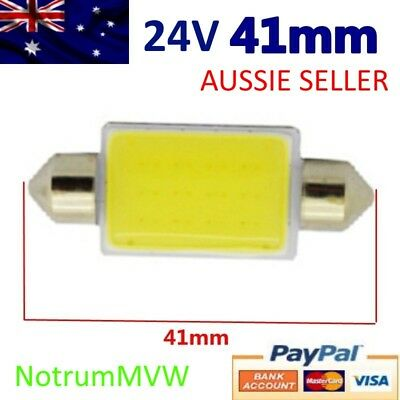 1pc 24V Festoon 41mm COB LED White Light C5W Truck 4wd Caravan Bus Bulb Globe