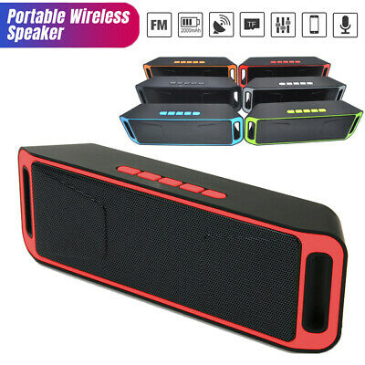 Recharegable Wireless Bluetooth Speaker Portable Outdoor USB/TF Radio US Stock