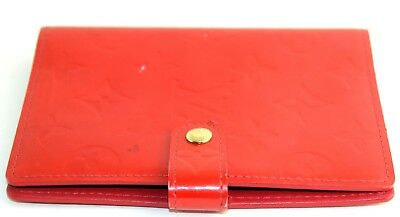Auth LOUIS VUITTON Monogram Vernis PM Red Agenda Organizer Diary Planner Spain