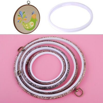 Imitation Bamboo Hoop Cross-stitch Supply Embroidery Craft Needlecraft Sewing