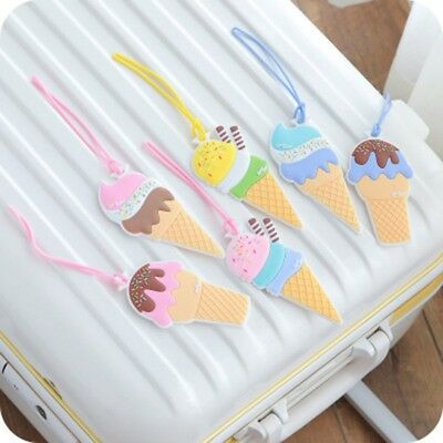 Cute Ice Cream Luggage Tag Travel Accessories Creative Silicone Suitcase Tag XXF