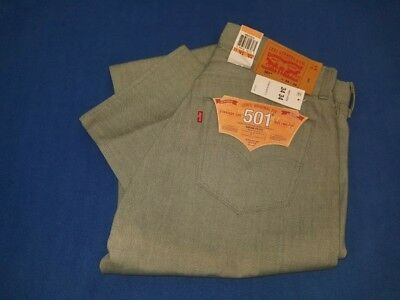 NWT Men's Levis original fit 501straight leg button fly shrink to fit jeans34/34