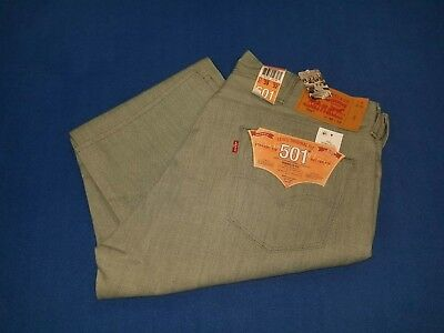NWT Men's Levis original fit 501straight leg button fly shrink to fit jeans38/32