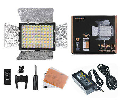 Yongnuo YN300 III 5500K CRI95+Pro LED Video Light with Remote Control Support AP