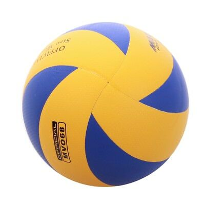 PU Leather Volleyball Official Size and Weight Blue/Yellow Soft Touch Game Ball