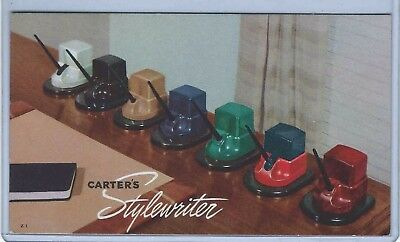 Unused Blotter, Ad For Carter's Stylewriter Ink Stands.