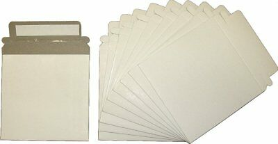 "10 Paperboard Slim Single CD / DVD Mailer - 5""x 5"" Self-Sealing Shipping Sleeves"