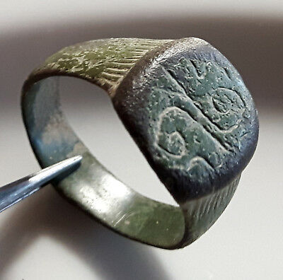 CELTIC Bronze ** TWO SNAKES RING ** SPIRALS of LIFE