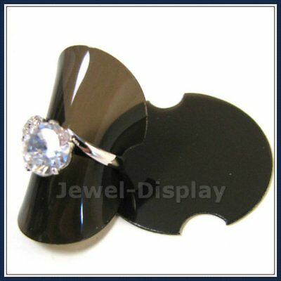 100 Plastic Black Ring Riser Disc Retail Jewelry Display Packaging Holder 1.5""