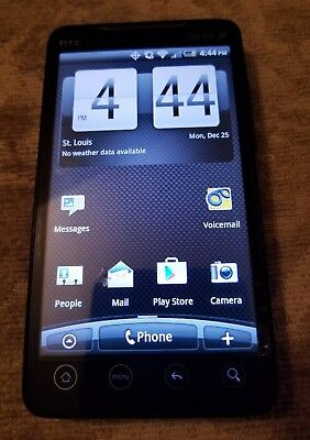 HTC EVO 4G Sprint PCS Black Google Android Smart Cell Phone Bluetooth