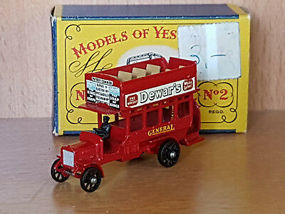 """Matchbox No. 2 """" B -Type """"  London Bus Models Of Yesteryear Scale 1:100  Y-2"""