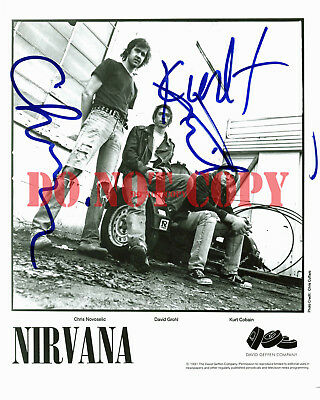 Nirvana Autographed 8x10 Signed Photo Reprint
