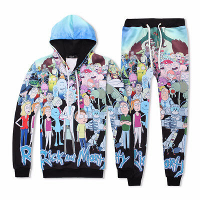 Rick and Morty 3D Full Printed Hooded Sweater Unisex Sportswear Anime Cosplay #2