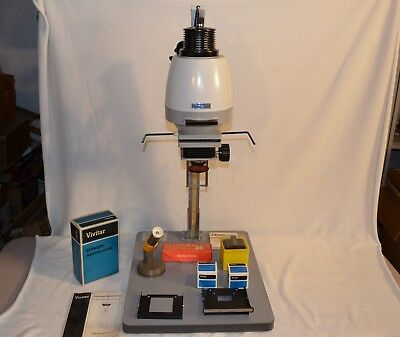 Vivitar E 34 Darkroom Photo enlarger with 2 lens, instructions, 2 film carriers