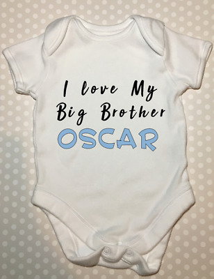 Baby Playsuit Baby Grow My Big Brother is A Westie Baby Vest