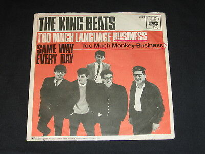"7"" The King-Beats: Too Much Language Business / Same Way Every Day German Cbs"