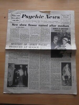Psychic News Spiritualist Newspaper 1968