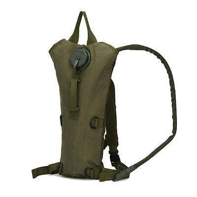 Outdoor 3L Hydration System Pouch Backpack Climb Bladder Water Bag Army Green PT