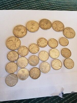 silver canadian dimes and quarters