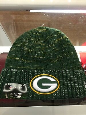 New Era Green Bay Packers Knit Beanie Cap Hat Official NFL 2017 Kickoff  11461156 b464332c8edd