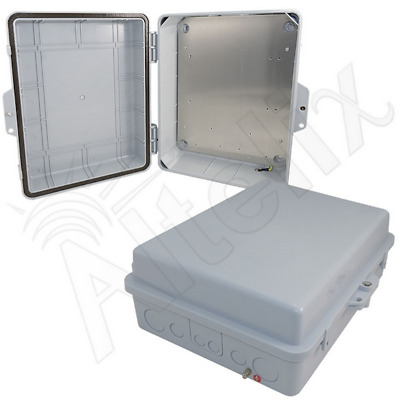 Altelix 14x11x5 Polycarbonate + ABS Weatherproof NEMA Box with Aluminum Plate