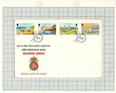 Isle of Man Stamps -1983 FDC & Mint Set of 4 Definitive Issues SG244 - 247