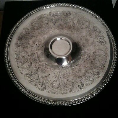 WM Rogers Eagle Star Mark Silver Plate Serving Tray 12 1/2 Inch Snack