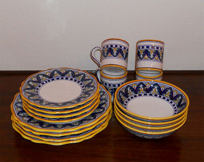 Deruta Italian Pottery Hand Made Dinnerware Set 16 Pcs : italian made dinnerware - Pezcame.Com